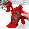 Ботильйони жіночі Tad червоні 3203, фото 7
