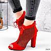 Ботильйони жіночі Tad червоні 3203, фото 9