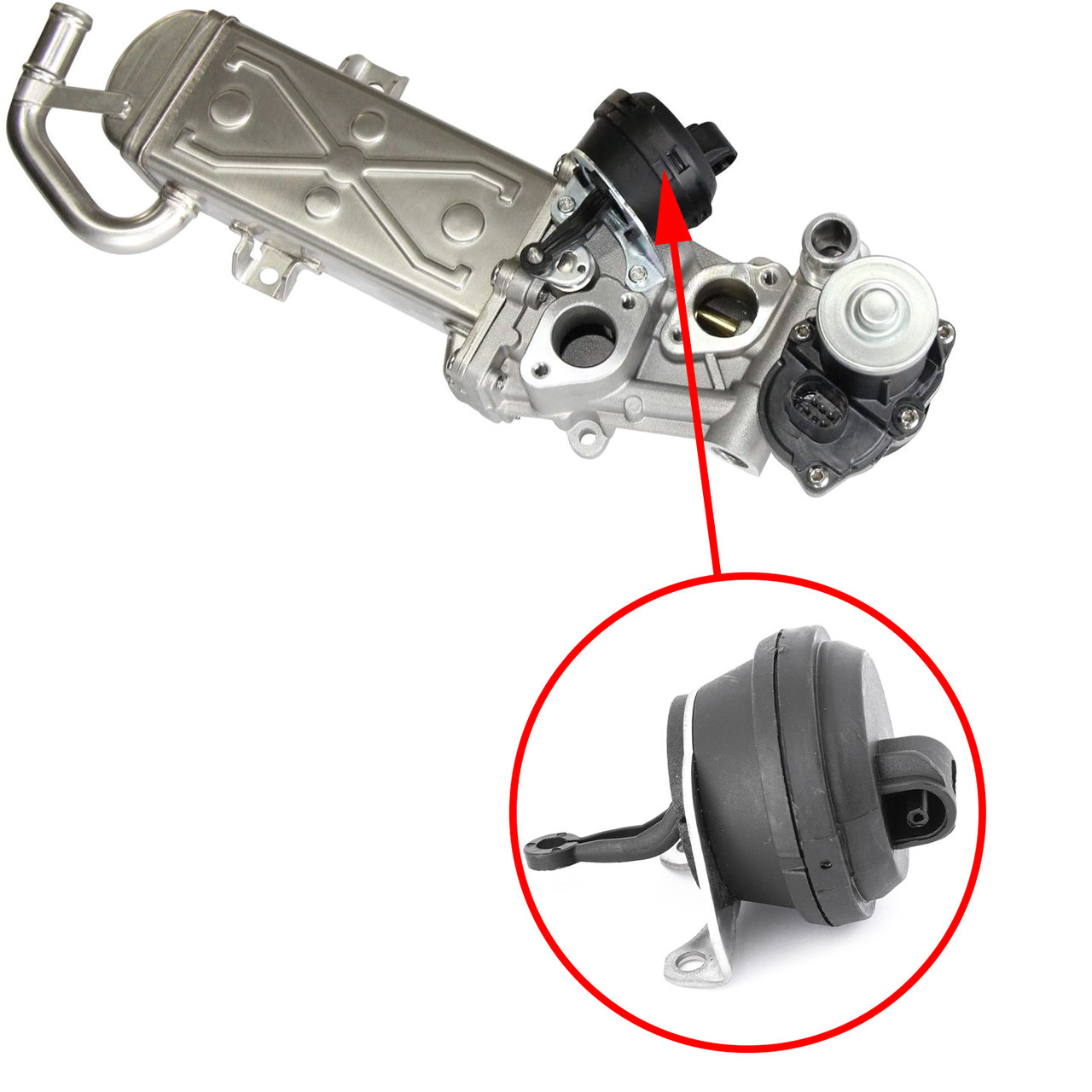 Вакуумный актуатор радиатора системы EGR Volvo 2.4TDI, 2.0TDI 31439464  36010129