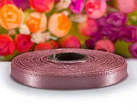 """Стрічка атласна 0,6 см ширина (25 ярдів) """"LiaM"""" Ціна за рулон. Колір - пильна троянда"""