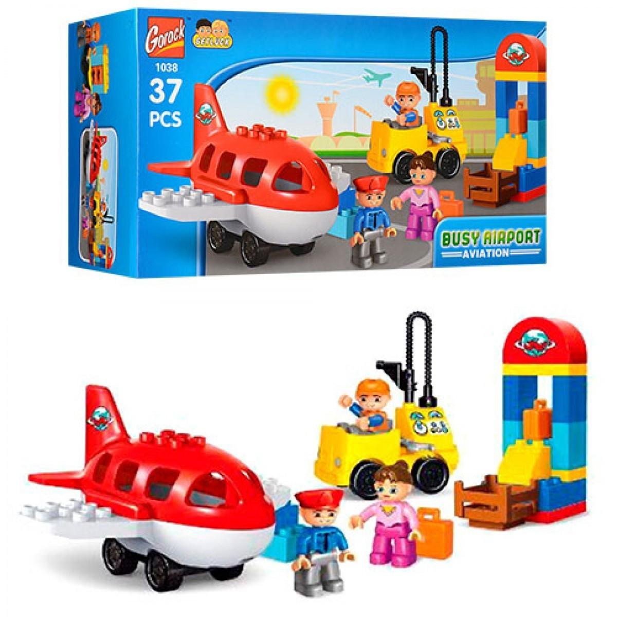 Конструктор дитячий Gorock Аеропорт 37 деталей