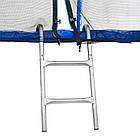 Батут Atleto 312 см с двойными ногами с сеткой синий, фото 4