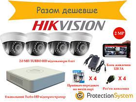 Комплект видеонаблюдения HikKit04 THD 4cam 2MP