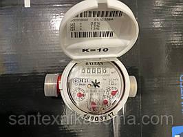 """Счетчик воды водомер Baylan (Байлан) горячая вода 1/2"""" 2,5 куб 110 мм без штуцеров 2021 года Апреля"""