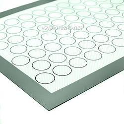 Силиконовый коврик для выпекания печенья и макарун