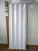 Двері гармошка глуха 810х2030х6мм білий ясен 610 доставка по Україні