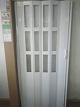 Двері розсувні полуостекленные 266 вільха червона 860х2030х12мм