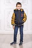 Подростковая куртка с отстегивающимися рукавами трансформер в жилет на мальчика демисезонная, м.Артур, 128-134, фото 4
