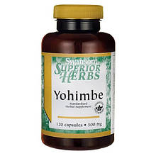 Стимулятор сексуальности Swanson Yohimbe Standardized 500 mg 120 капсул