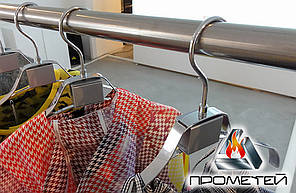 Прямая штанга под заказ для примерочной в магазины одежды, диаметр трубы Ø20мм, 25мм, 30мм, 32мм