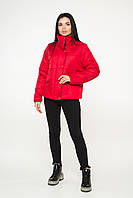 Жіноча демісезонна куртка Червоний/Чорний