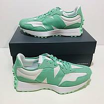 """Кросівки New Balance 327 """"Зелені/Білі"""", фото 3"""