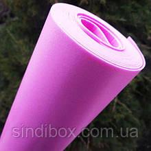 Изолон в рулоне, 4м х 0,75 х 2мм, Цвет- розовый №4 (СИНДТЕКС-0953)