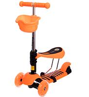 Самокат Micro Mini с сиденьем 3 в 1 оранжевый C-0332