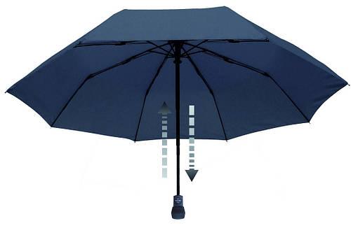 Мужской прочный складной зонт-автомат EuroSCHIRM Light Trek Automatic 30329050/SU17746 синий, Антиветер