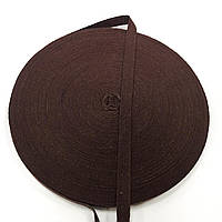 Тасьма киперная 10мм кол коричневий (боб 40м)