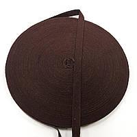 Тесьма киперная 10мм цв коричневый (боб 40м)