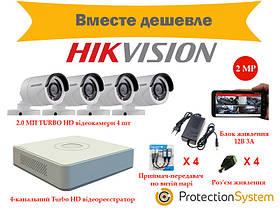 Комплект видеонаблюдения HikKit05 THD 4cam 2MP