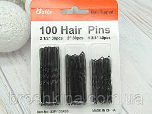 Шпильки для волосся мікс 100 шт/набір (4.5, 5 і 6 см)