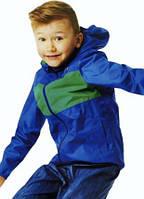 Дитяча вітрівка,дощовик куртка 134-140 синя, фото 1