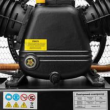 Компрессор 200 л, 7,5 кВт, 380 В, 10 атм, 1050 л/мин. 3 цилиндра INTERTOOL PT-0040, фото 3