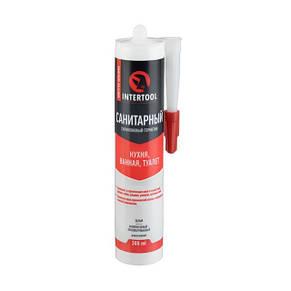 Герметик силіконовий санітарний, білий 300мл / 320г. FS-3031 Intertool