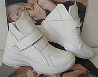 Philipp Plein весна 2021 !Женские белоснежные сникерсы ботинки Филипп плейн на танкетке с липучками