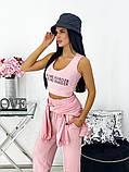 Жіночий спортивний костюм трійка: топ, майка, штани 24-1336, фото 9