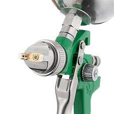 Набор из 3-х краскопультов HVLP, 0,8мм, 1,3мм, 1,7мм, регулятор давления, два пластиковых и один металлический, фото 2