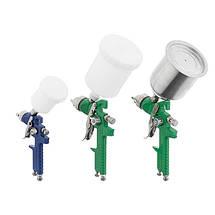 Набор из 3-х краскопультов HVLP, 0,8мм, 1,3мм, 1,7мм, регулятор давления, два пластиковых и один металлический, фото 3