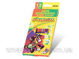 """Цветные карандаши Marco 24 цвета """"Пегашка"""" двухсторонние 1011-12CB"""