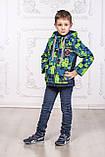 Дитяча куртка з відстібними рукавами трансформер в жилетку на хлопчика демісезонна, м. Екстрим, 104-122, фото 5