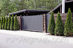 Откатные ворота ALUTECH  3100 мм * 2100 мм