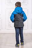 Дитяча куртка з відстібними рукавами трансформер в жилетку на хлопчика демісезонна, м. Екстрим, 104-122, фото 6