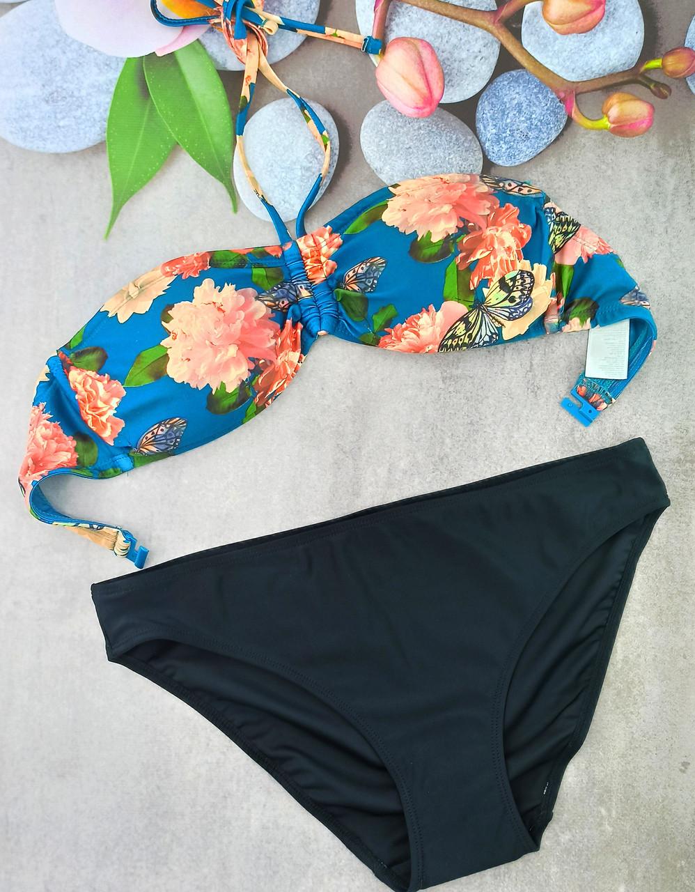 Жіночий купальник Esmara анжеліка 38р морська хвиля з чорним (312241)