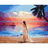 Картина за номерами Тропічний світанок 40х50 Brushme (Без коробки) расскраска за номерами