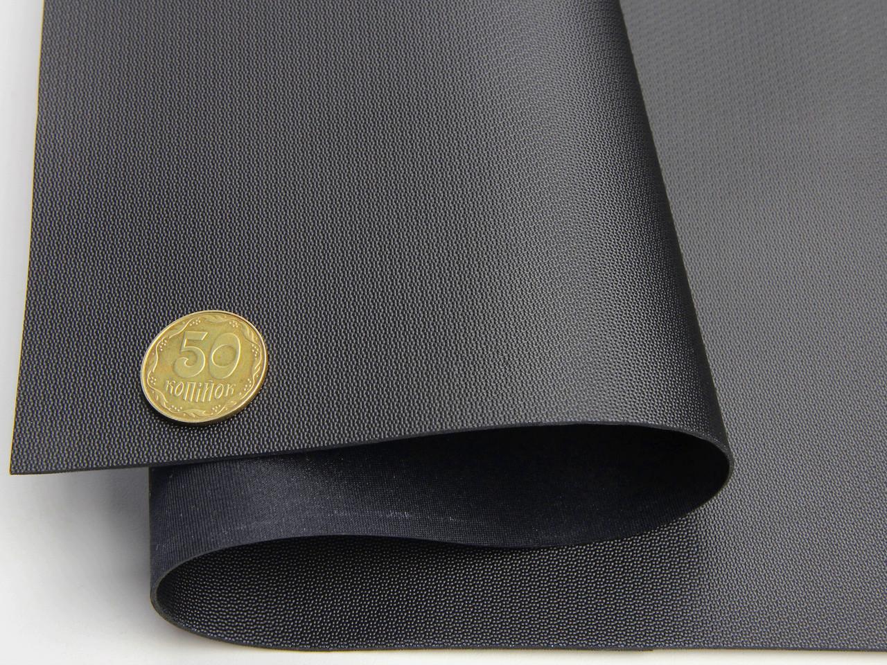 Термовинил черный (узор Balistic tk-23) на каучуковой основе для перетяжки руля, дверных карт, шир 140см