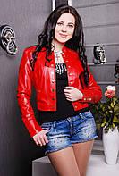 Куртка женская красная 819