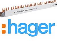 Фазна шина Hager KDN463B 4P 10мм2 56M