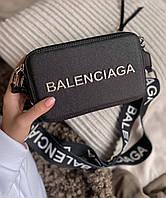 Жіноча сумка Balenciaga Black | Клатч крос боді Баленсіага Чорний, фото 1