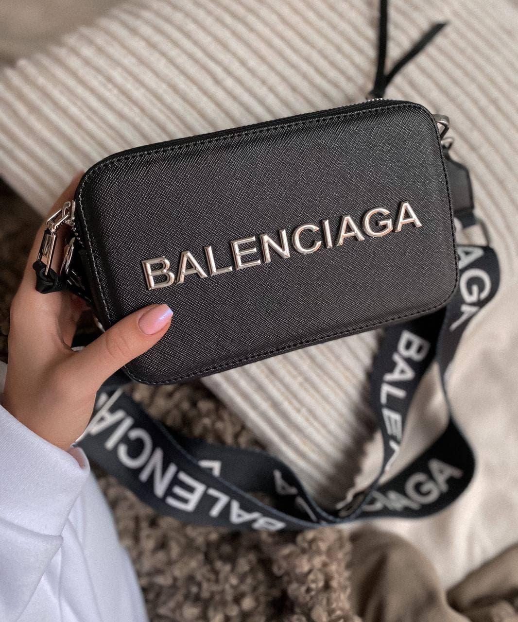 Жіноча сумка Balenciaga Black | Клатч крос боді Баленсіага Чорний
