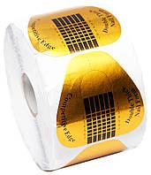 Формы для наращивания ногтей золотые широкие 500 шт