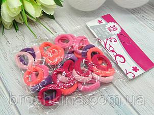 Резиночки для волосся Ø2 см мікрофібра 30 шт/уп. кольорові яскраві