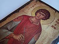 Икона Святого Пантелеймона целителя ручной работы