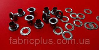 Блочка люверс+шайба 4 мм темный никель (8,5*5,5*4,5)