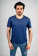 Мужская футболка из лакосты цвета индиго