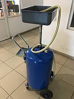 Итальянская Установка для слива отработанного масла ОМА 803 бак 80л, фото 1