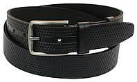Мужской кожаный ремень под джинсы Skipper 1011-38 черый ДхШ: 128х3,8 см.