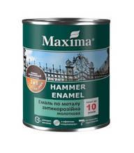 Эмаль Maxima антикоррозийная .по металлу, 3в1 молотковая, темно-коричневая 0,75 л
