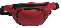 Кожаная поясная сумка Cavaldi 903-353 красная, фото 1